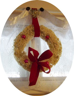 Vintage White Flocked Christmas Wreath