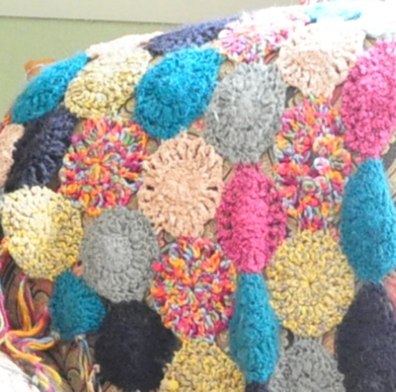 Betsy Johnson crocheted throw