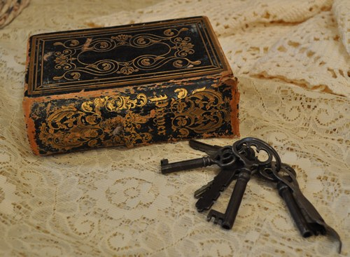 Antique Prayer Book and Keys