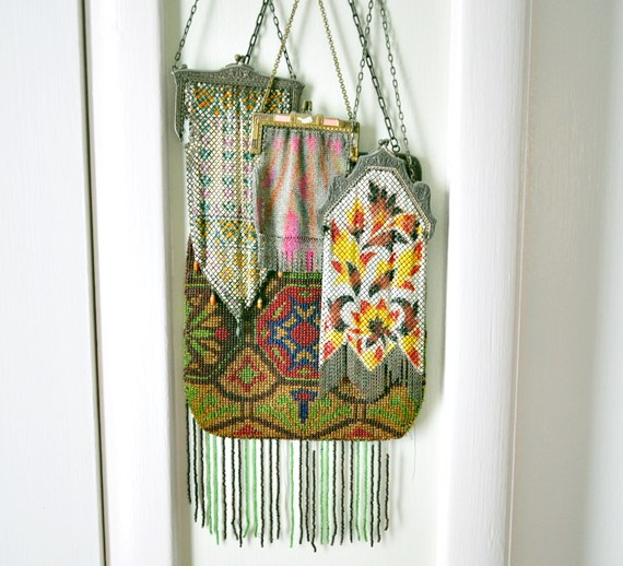 Vintage beaded purse collection