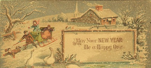 Antique Happy New Year Postcard