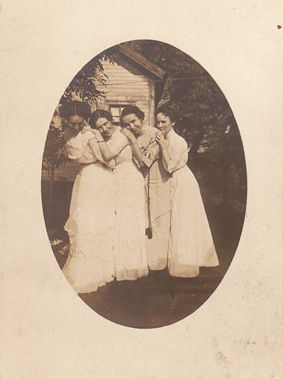 Real photo post card of Victorian ladies