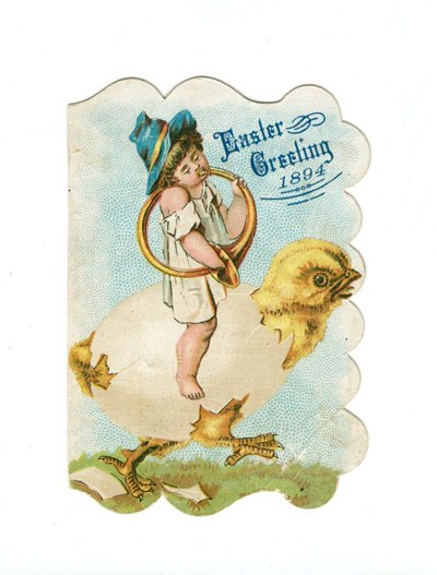 Antique, 1894, Easter postcard - Free Easter Graphic!