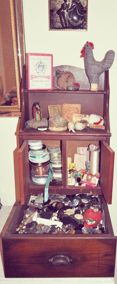 Button and sewing collection