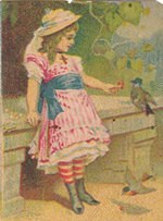 Girl and Bird Graphic
