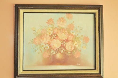 Painting in ugly, dated frame