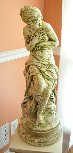 Plaster Goddess Statue