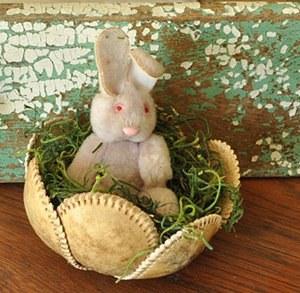 Baseball Skin Cabbage Bowl Bunny