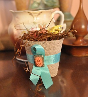 Decorated Peat Pot