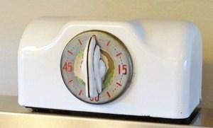 Vintage enamel kitchen timer