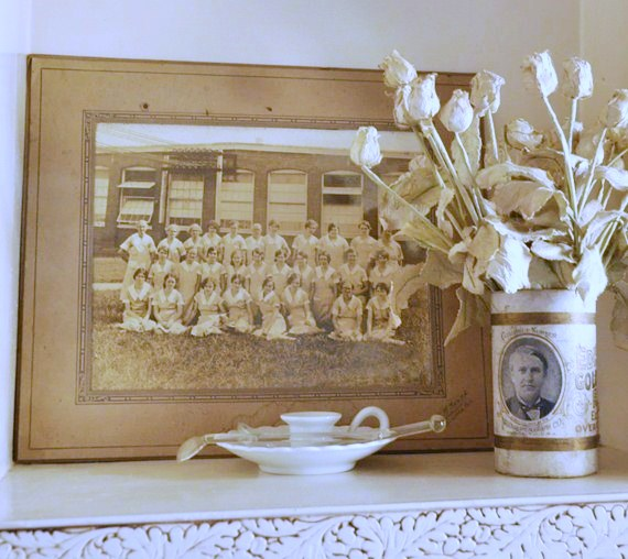 Vintage Group Picture on Pantry Shelf