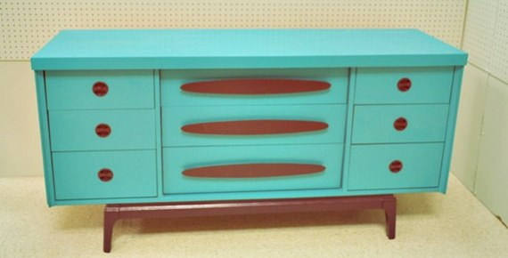 MCM Turquoise Buffet