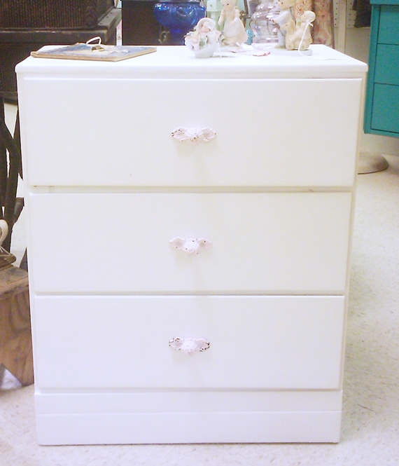White Chest with Pink Knobs