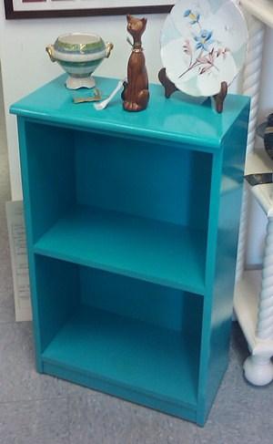 Small Blue Bookcase