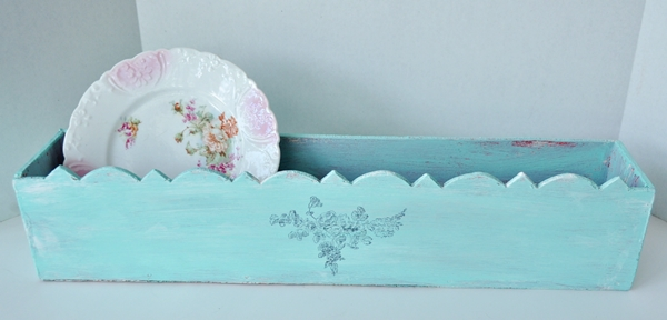 Painted Box With Graphic Transfer