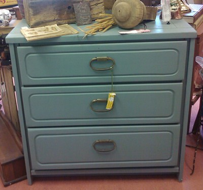 Dusty Blue Painted Chest