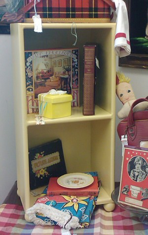 Small Yellow Bookcase
