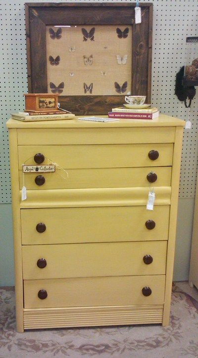 Yellow Painted Chest