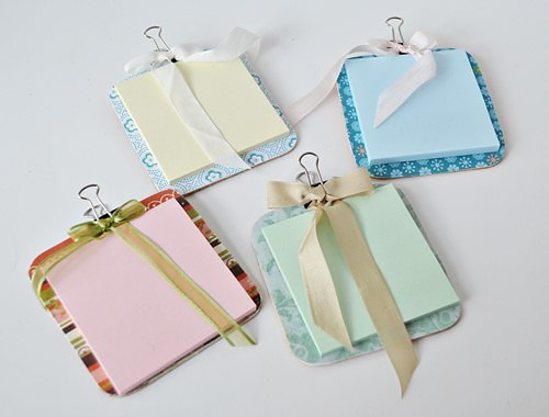 Post It Note Holders From Coasters