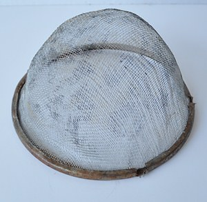 Shoo Fly Cloche Made From A Kitchen Strainer