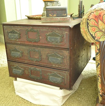 Story of a fancy iron cabinet : Just Vintage Home