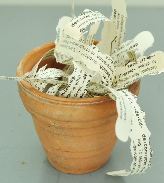 Dictionary paper filler strips : Just Vintage Home