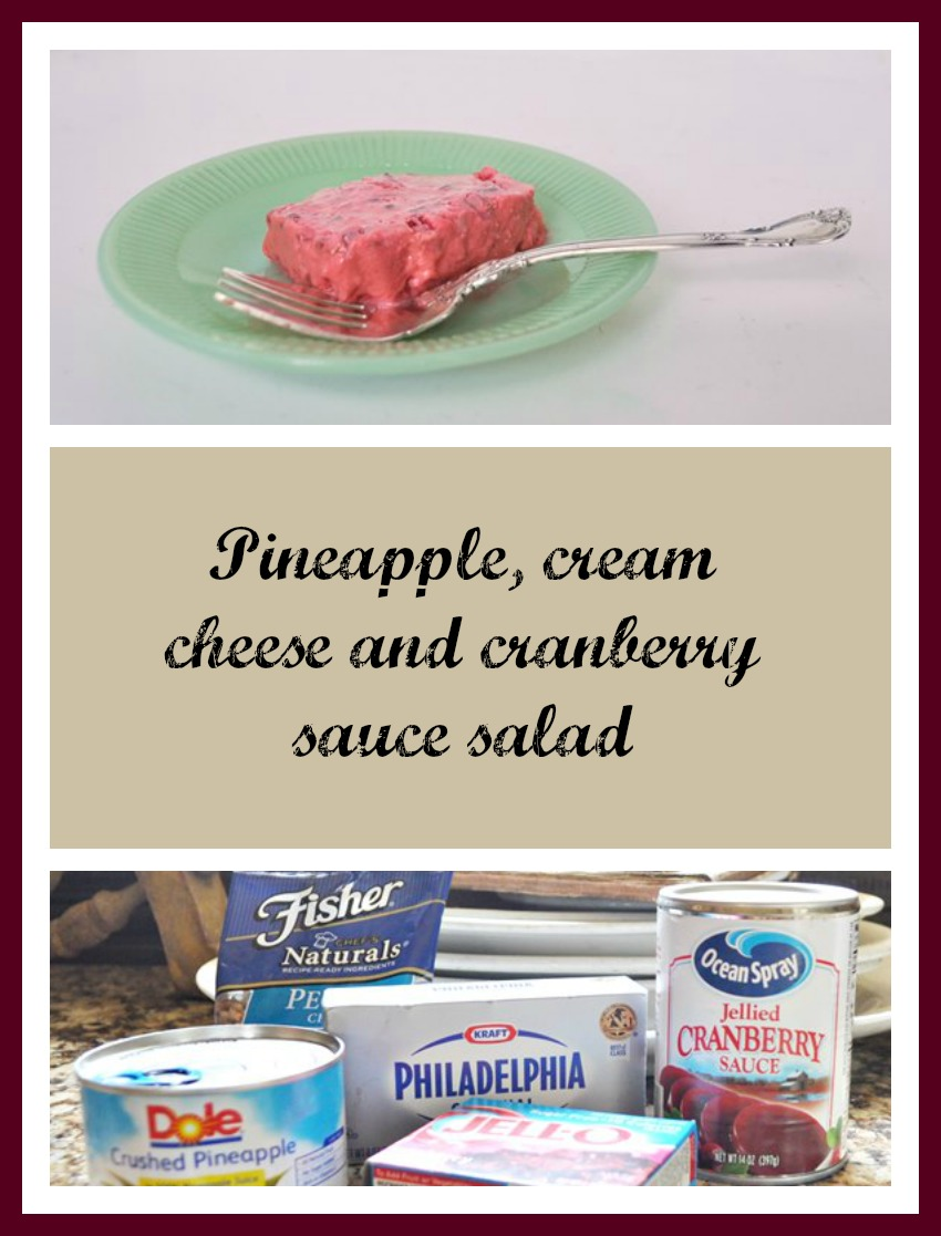 Cranberry, pineapple and cream cheese salad recipe