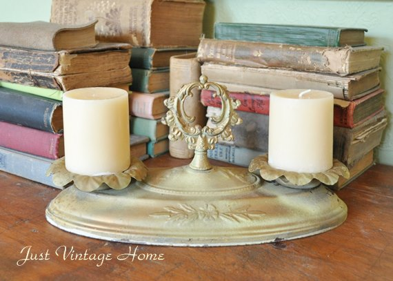 Light fixture into a candle holder
