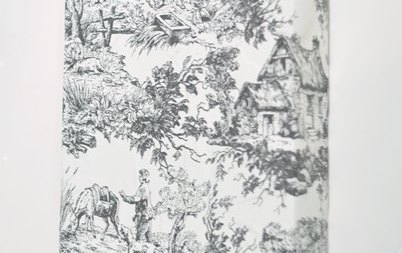 Black and White Toile Paper