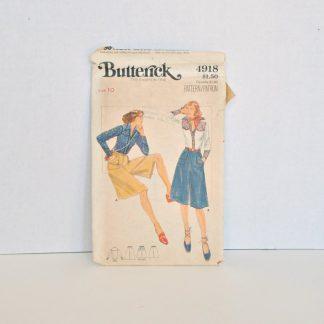 Vintage Butterick Pattern 4918 - Western Shirt