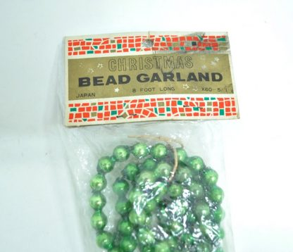 Green Christmas beaded garland