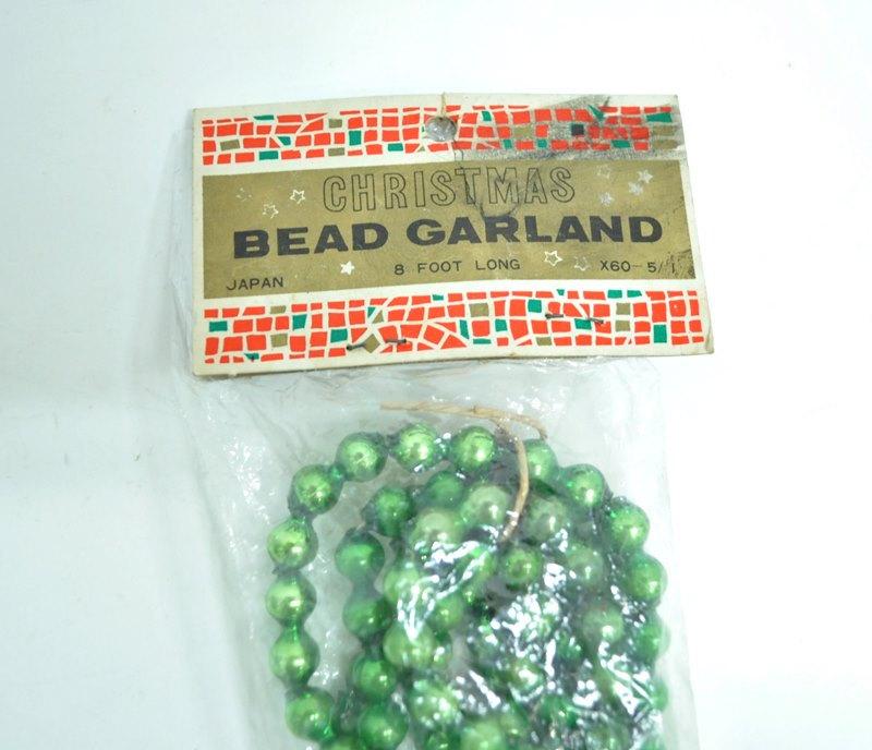 Green Christmas beaded garland