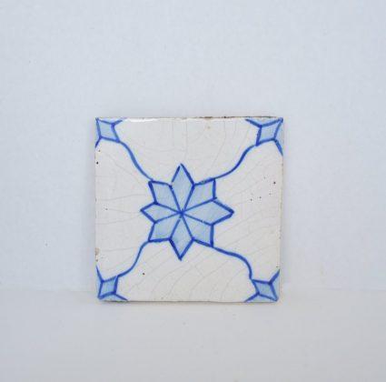 Vintage Decorative Tile - Blue and White