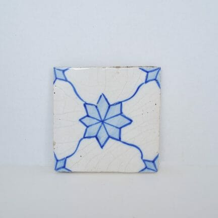 Vintage Decorative Tile - Blue and White