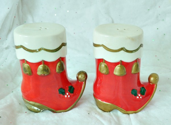 Santa Boots Salt and Pepper Shakers