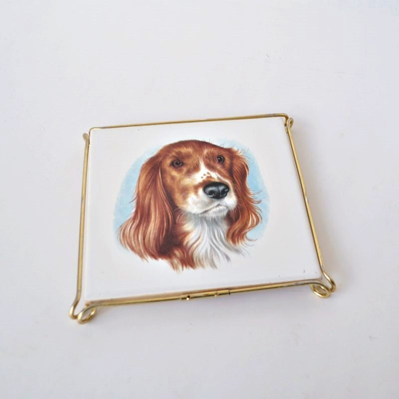 Villeroy and Boch Tile – Springer Spaniel – With Wire Frame