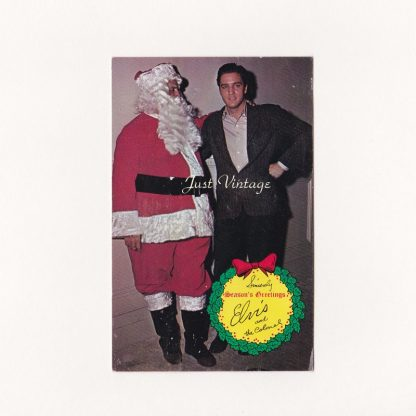 Elvis and the Colonel Christmas Postcard