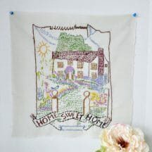 Vintage embroidery - Home Sweet Home