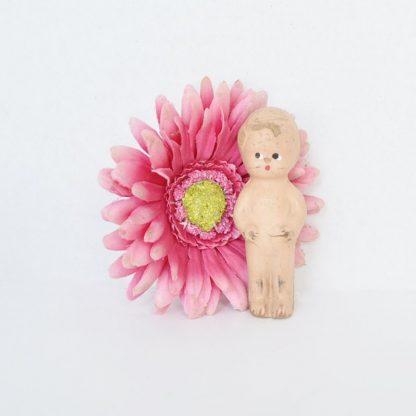 Composition Frozen Charlotte Kewpie Style Doll