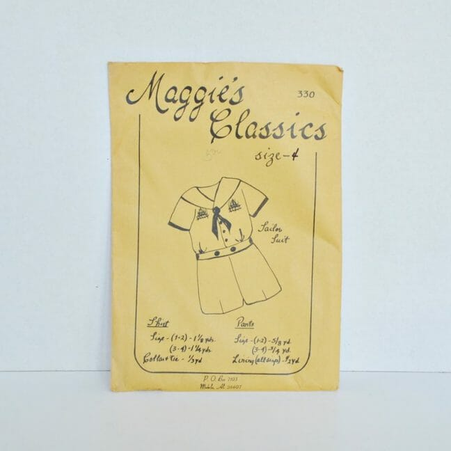 Maggie's Classic Smocked Sailor Suit Pattern
