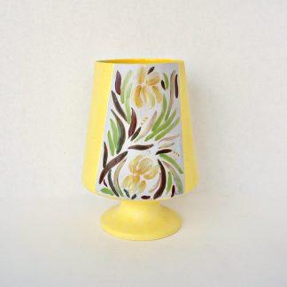 Yellow Tropical MCM Pottery Vase