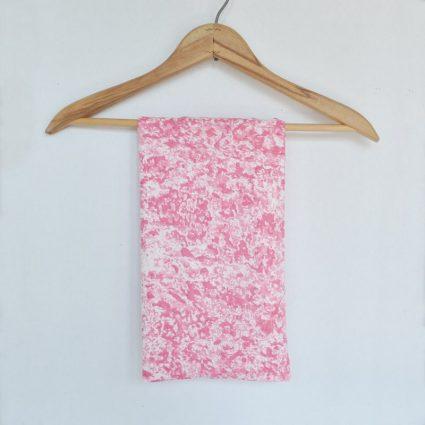 Pink Watercolor Splash Authentic Vintage Flour Sack