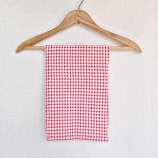 Authentic Vintage Flour Sack - Red and White Check