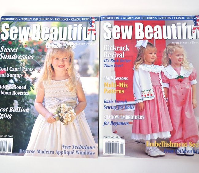 Sew Beautiful Magazine Back Issues - 2002
