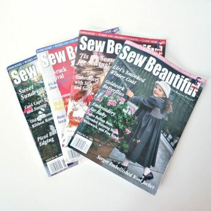 Sew Beautiful Magazine Back Issues - 2002
