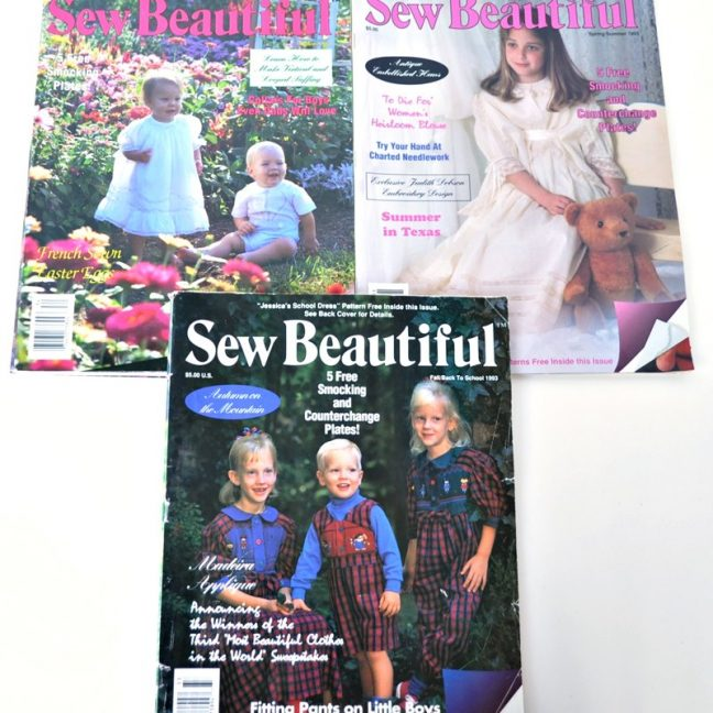 Sew Beautiful Magazine Back Issues 1993