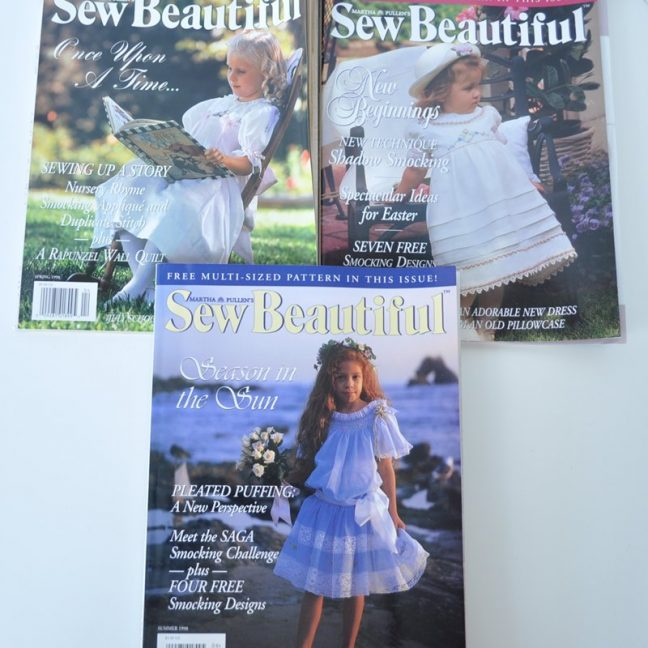 Sew Beautiful Magazine Back Issues 1998