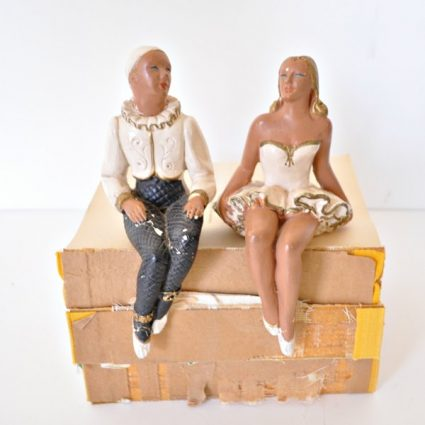 Vintage Shelf Sitters Harlequin Dancers