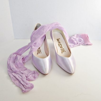 Vintage Lavender Pumps - Benzelli Shoes