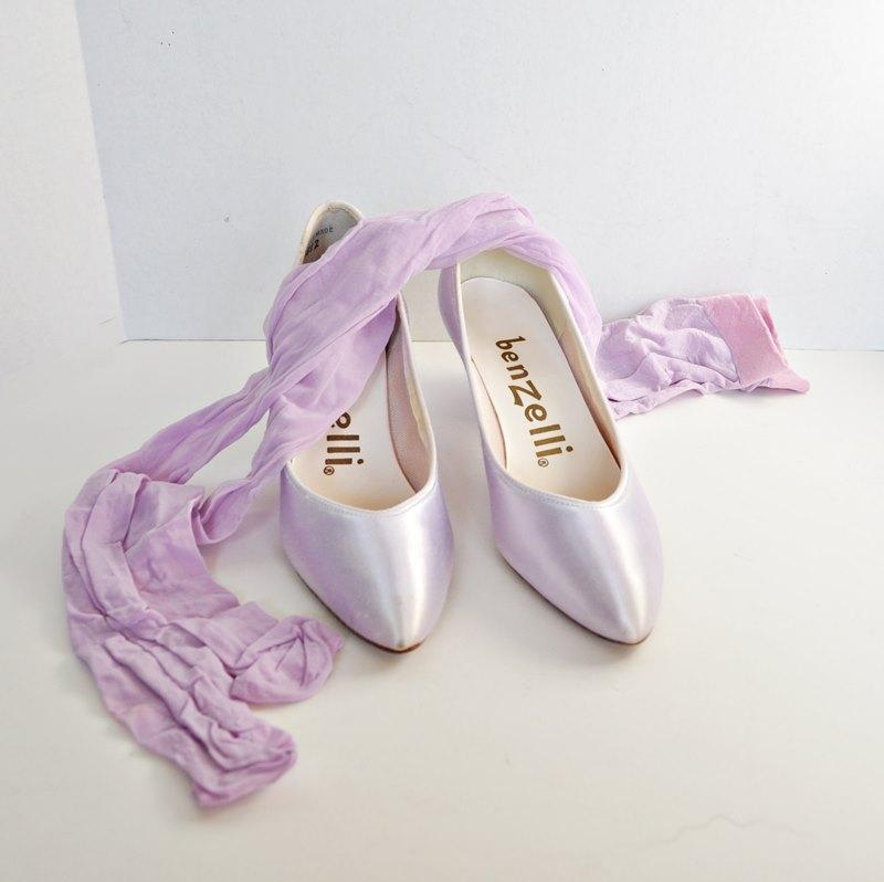Vintage Lavender Pumps - Benzelli Shoes